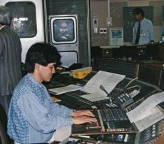 1992年頃 スタジオでの音楽録音現場にて