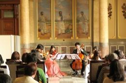 今年の会場コンサートは京都市立芸大の学生さんによる弦楽アンサンブルと相愛ジュニアオーケストラによる合奏を企画しています。