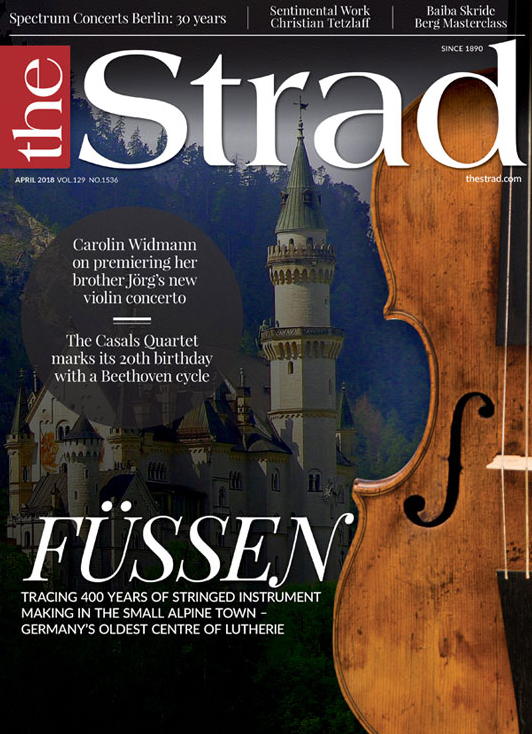 イギリスの弦楽器専門誌「The Strad」で2018年4月号で昨年刊行されたフュセンの弦楽器製作の歴史と製作された楽器を紹介をする記事が紹介されました。これをきっかけにフュッセンの市立博物館を訪ねて来ました。