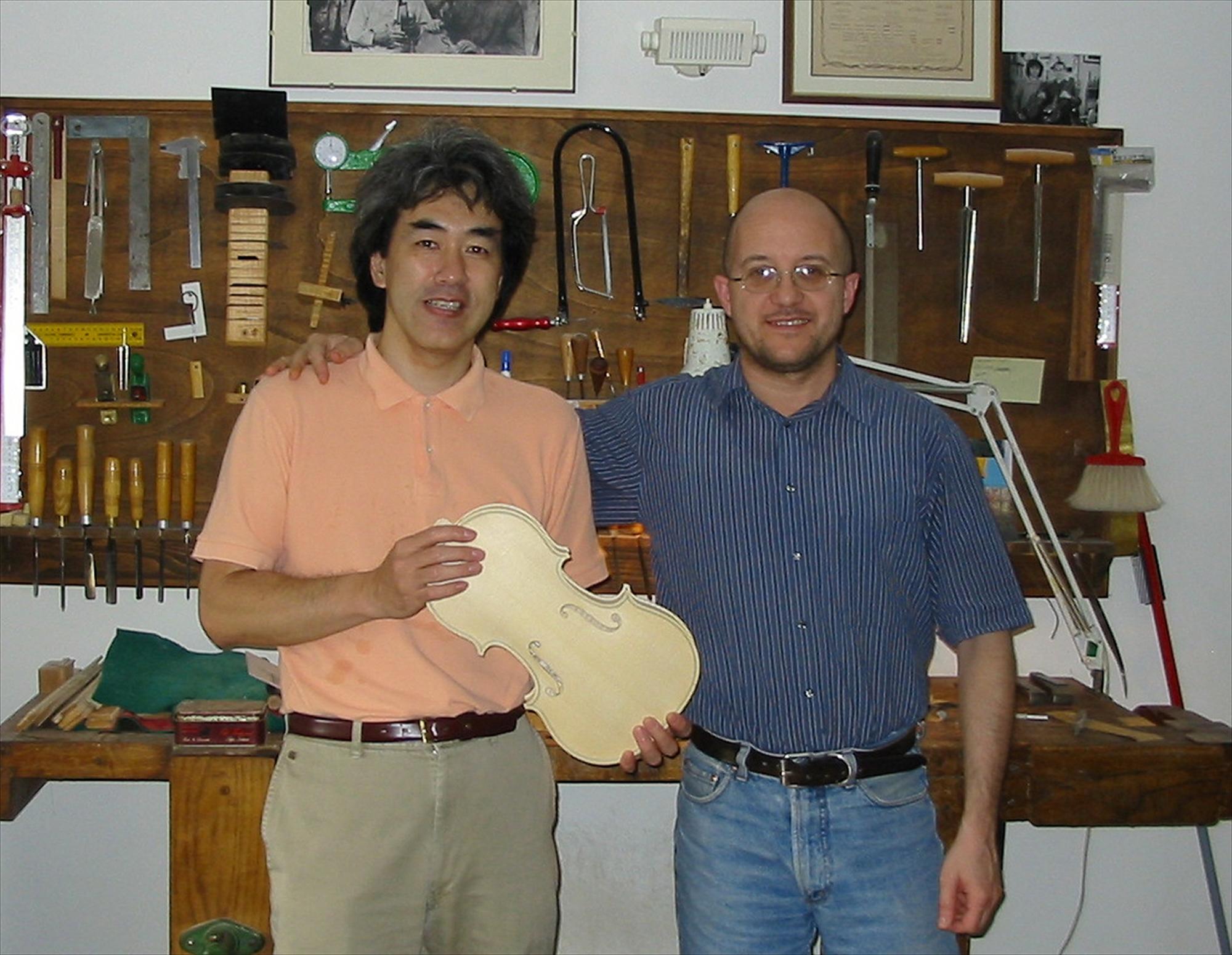 2004年、ラザーリ氏の下で修業時代