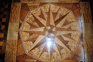 私の工房の床板モザイク